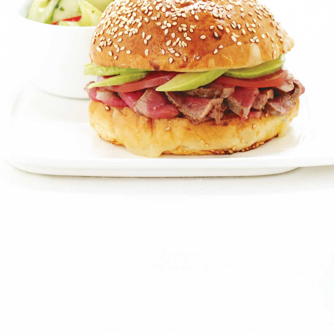 Barros Luco (beef, avocado and melted cheese sandwich)