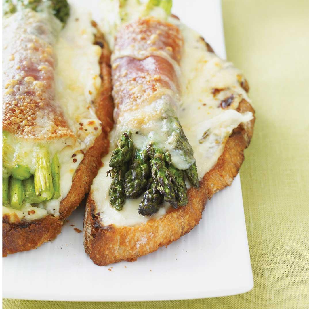 Asparagus Croque Monsieurs