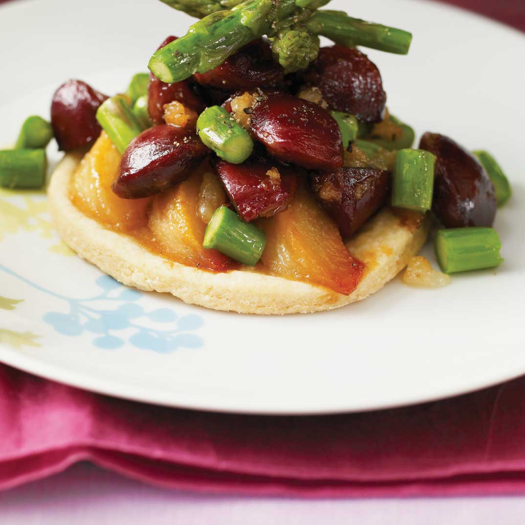Pear and Duck Gizzard Tartlets