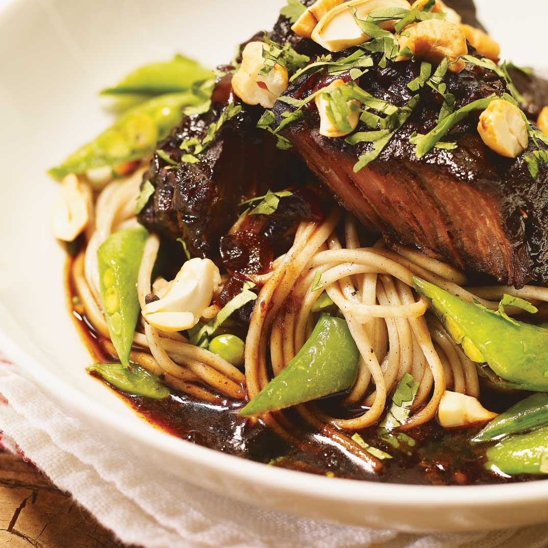 Tamari–Maple Braised Beef