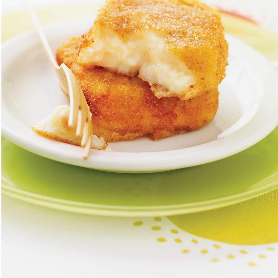 Sweet Fondue Parmesan (Fried Custard Squares)