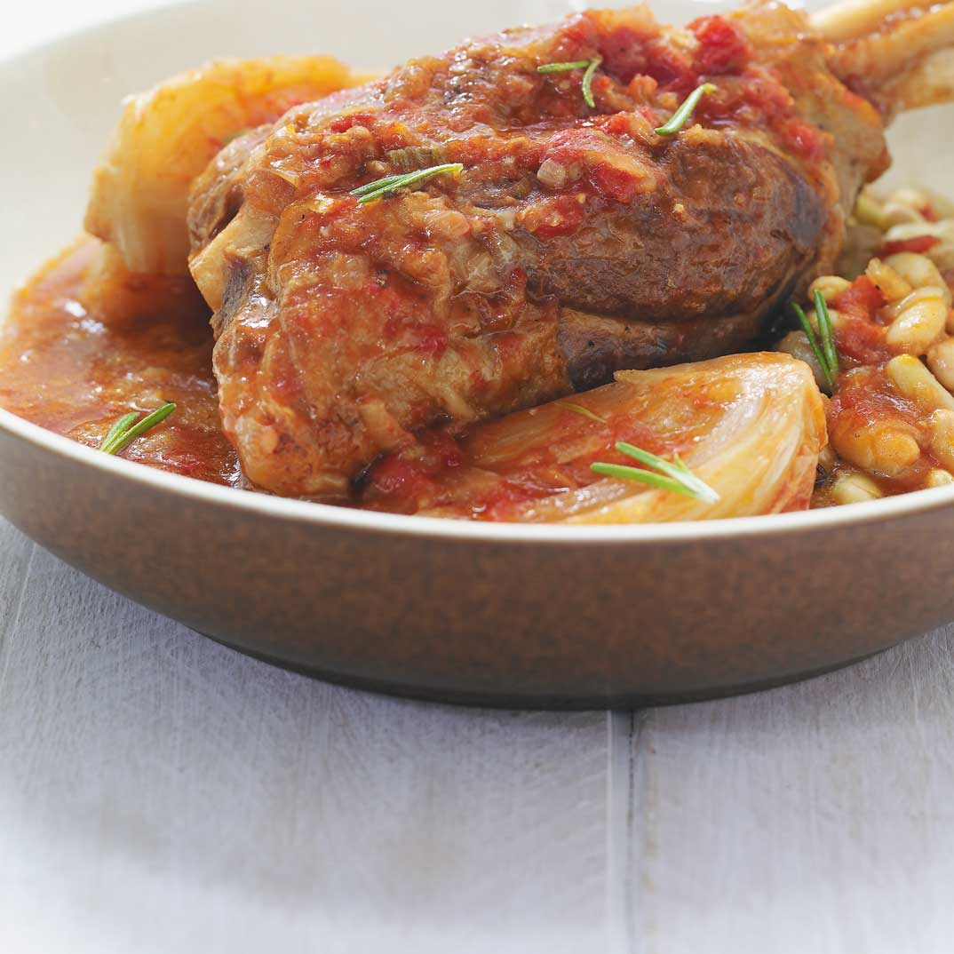 Lamb Shanks Braised with Tomatoes and Fennel
