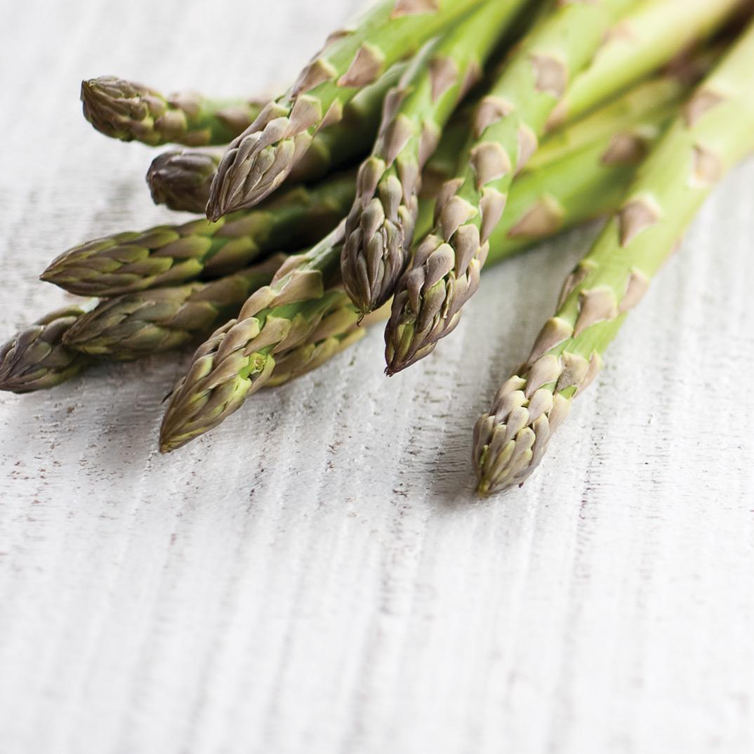 Nouilles aux asperges, au mascarpone et à la rosette de Lyon