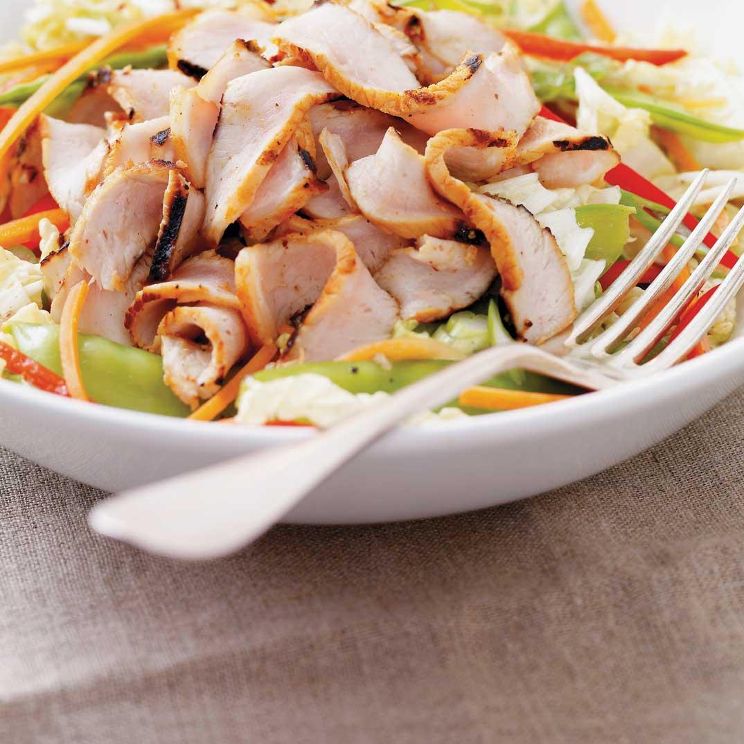 Salade de chou nappa au porc grillé