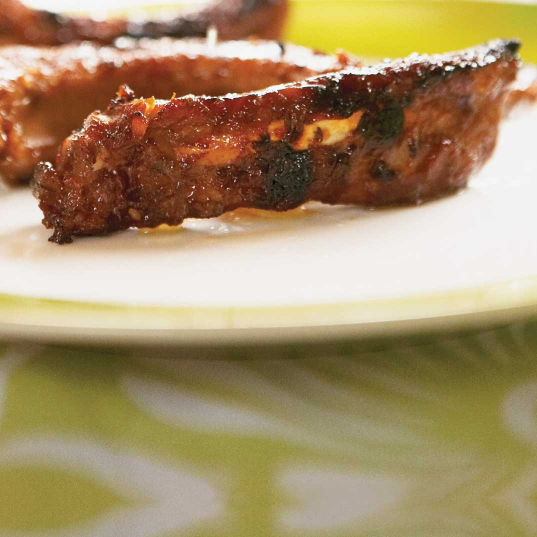 Grilled Pork Spare Ribs with Ponzu Sauce