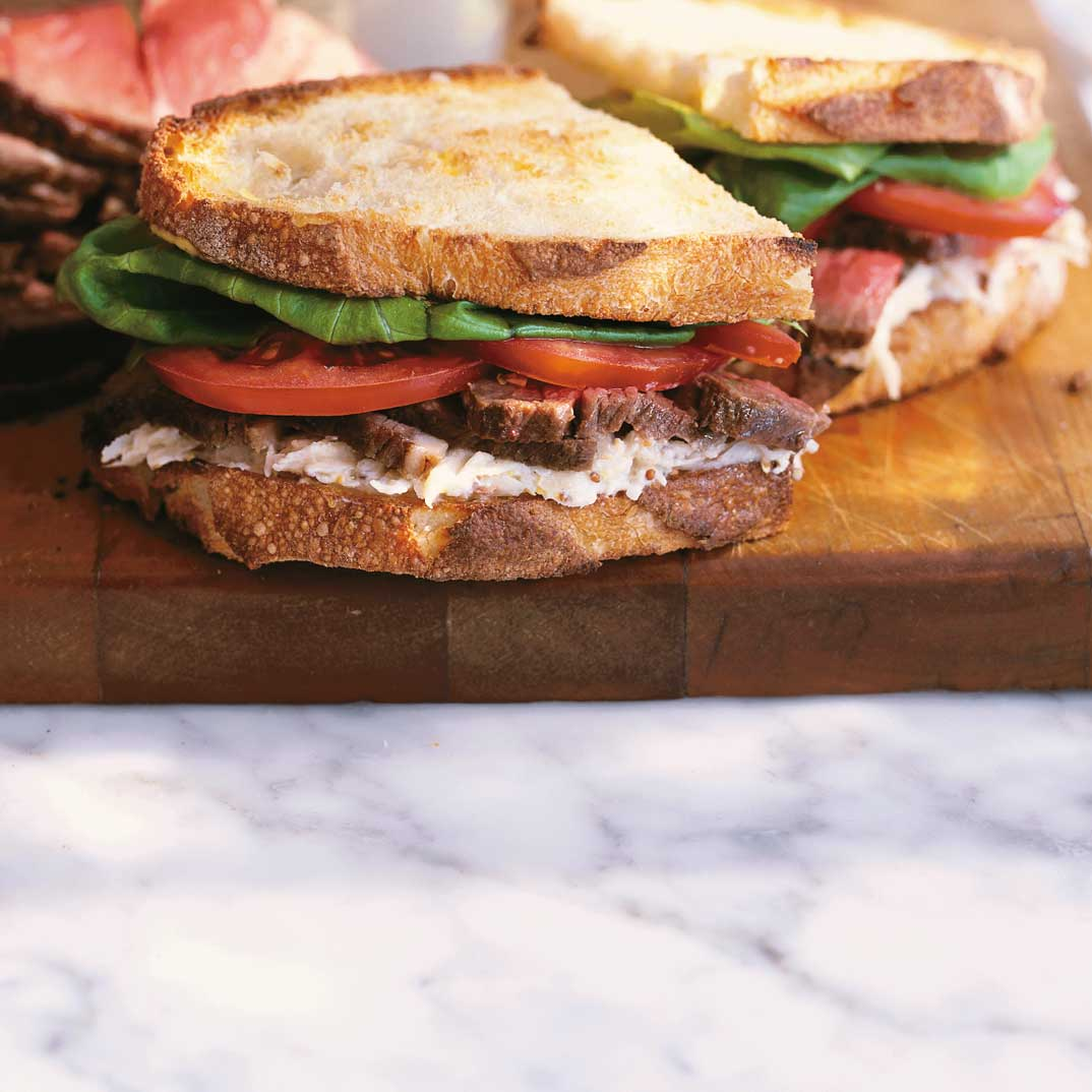 Roast Beef and Celery Root Remoulade Sandwich