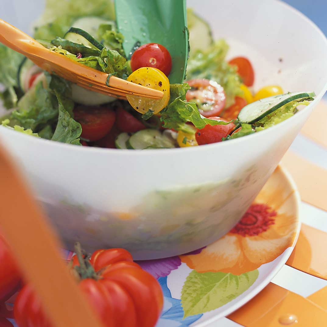 Summer Salad with Mint Dressing