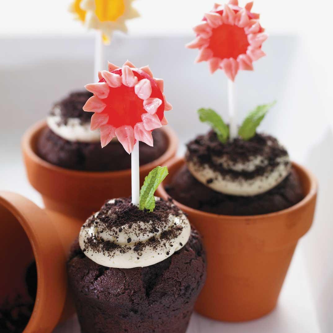 Spring Flower Cupcakes