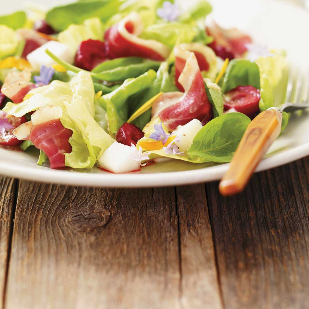 Smoked Duck and Cherry Salad