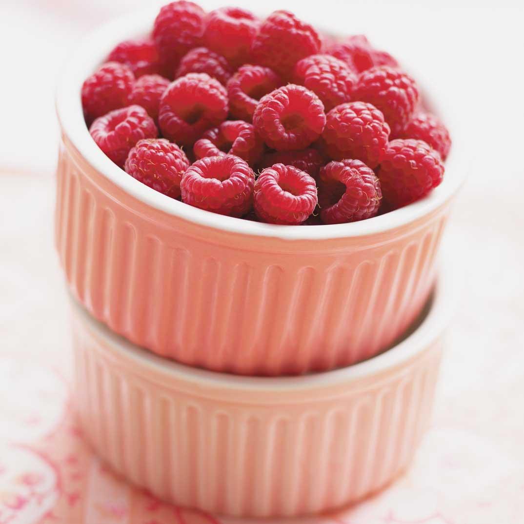 Gâteau rose aux framboises