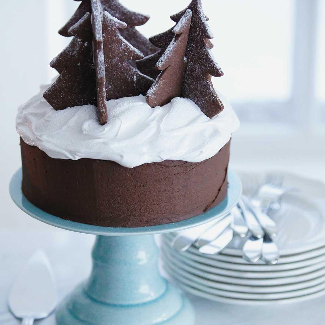 Gâteau au chocolat de Noël