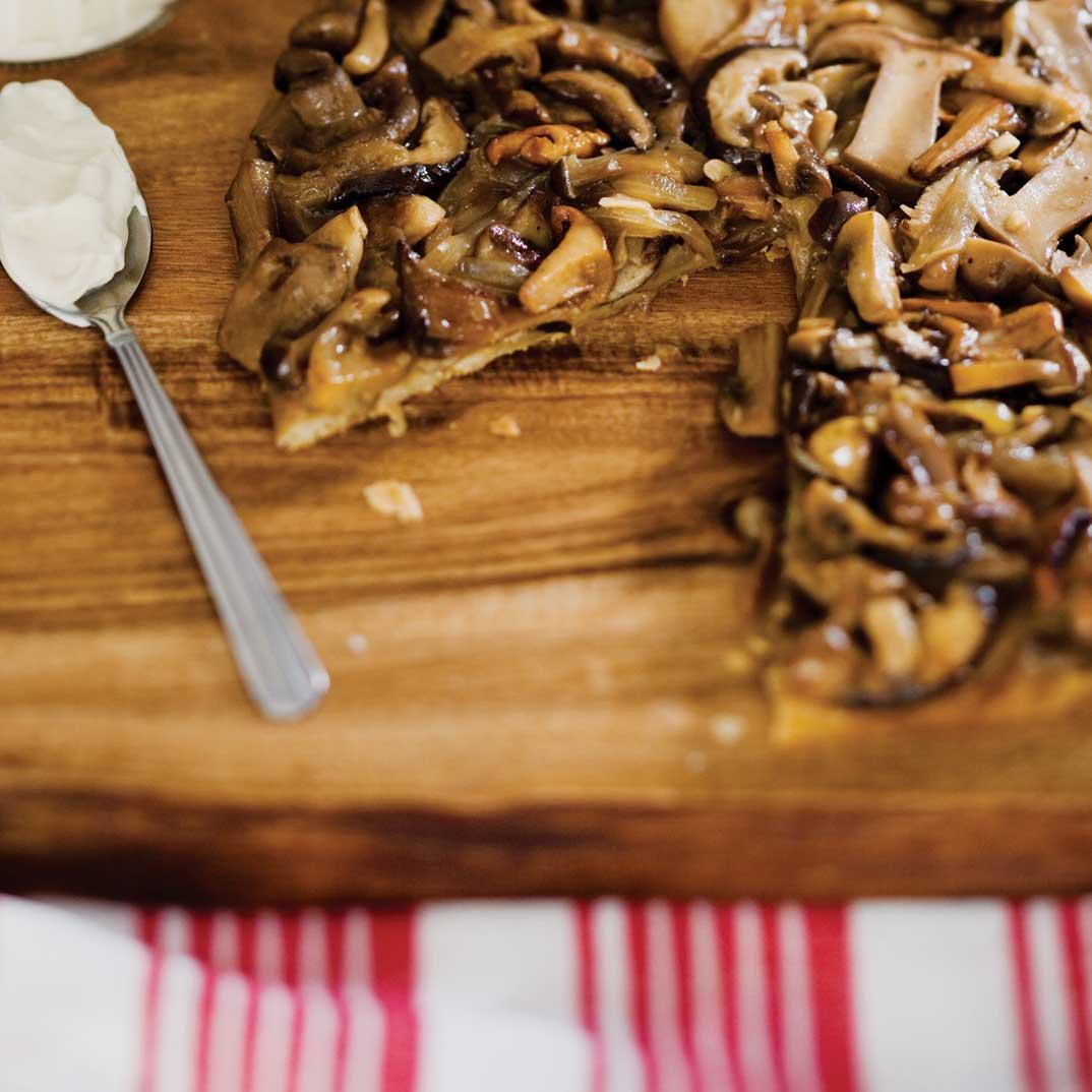 Tarte Tatin aux champignons
