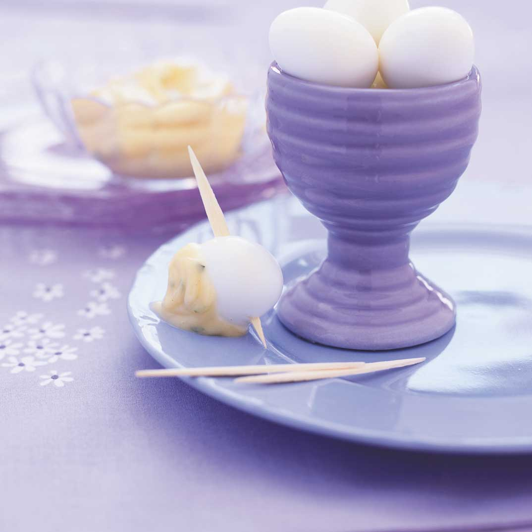 Hard-Boiled Quail Eggs with Tarragon Mayonnaise