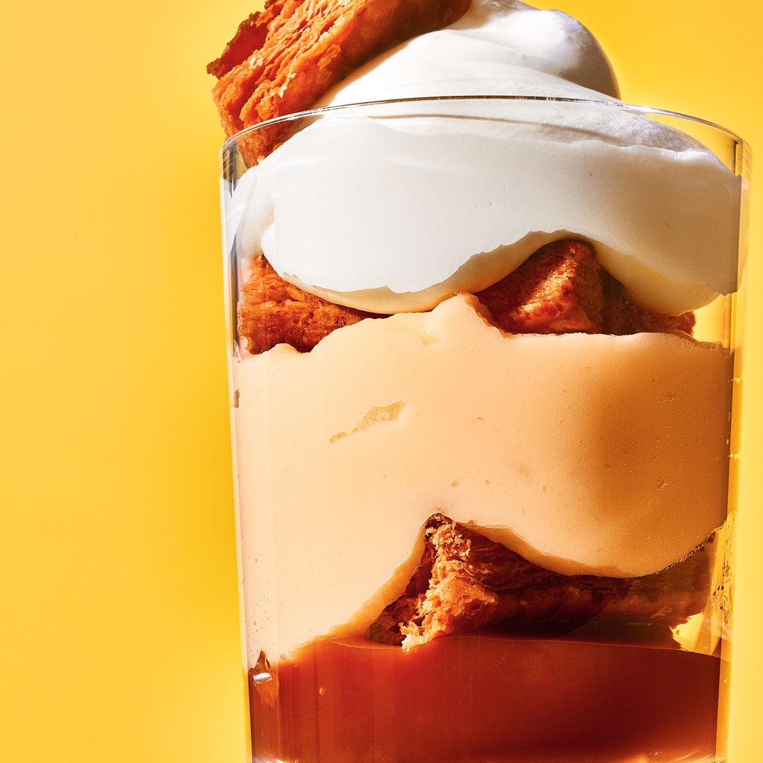 Millefeuille au caramel au beurre salé en pot