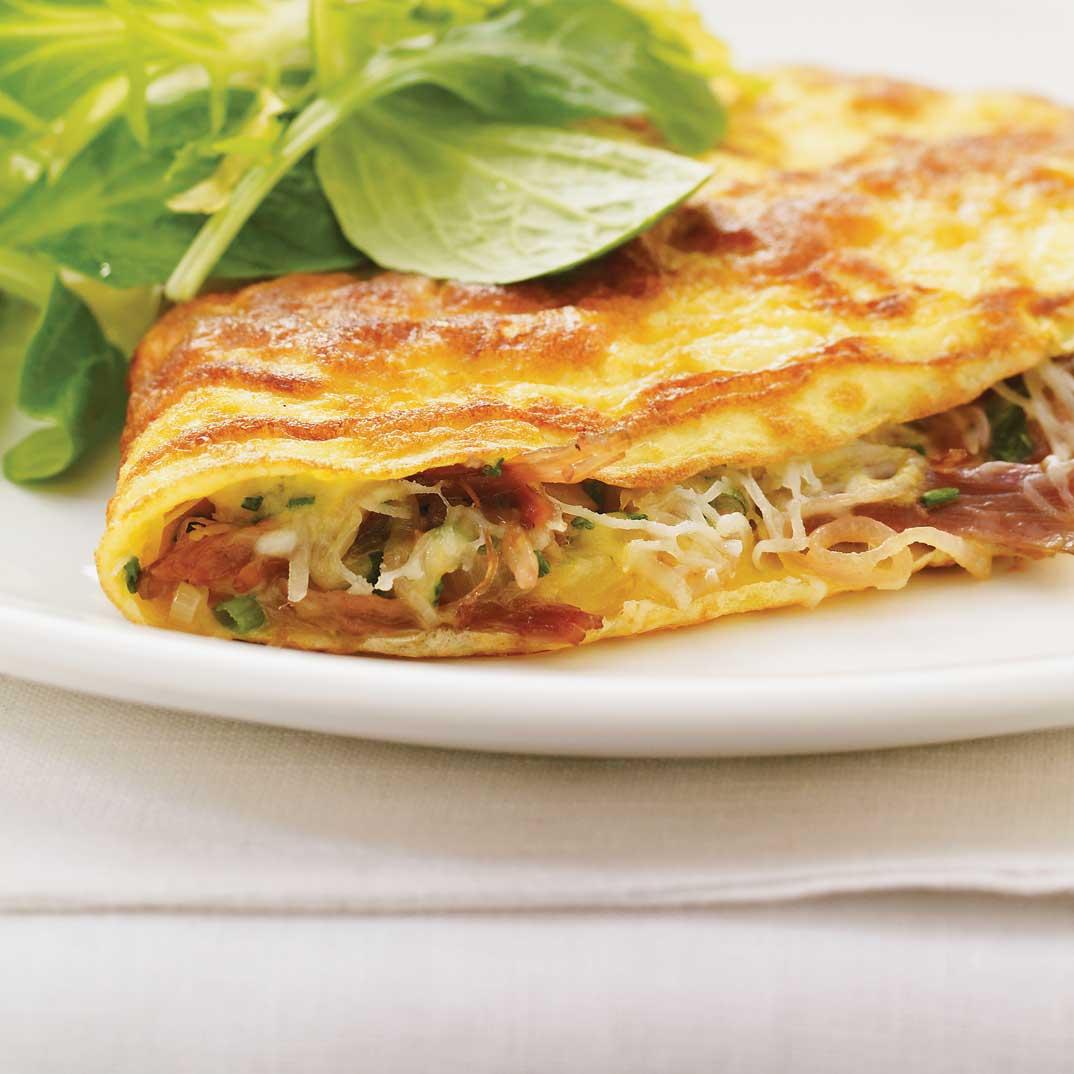 Omelette au confit de canard