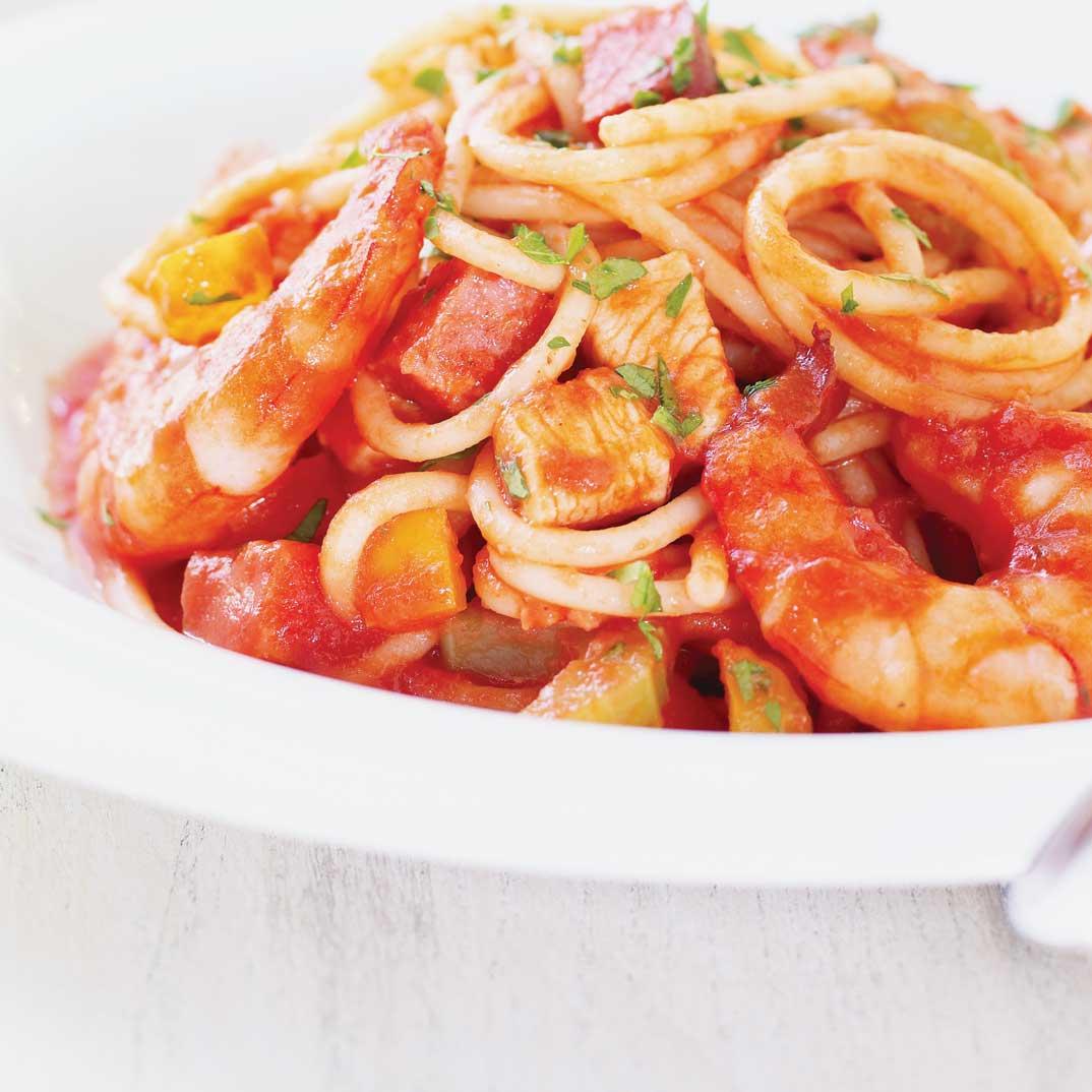 Spaghettis Jambalaya