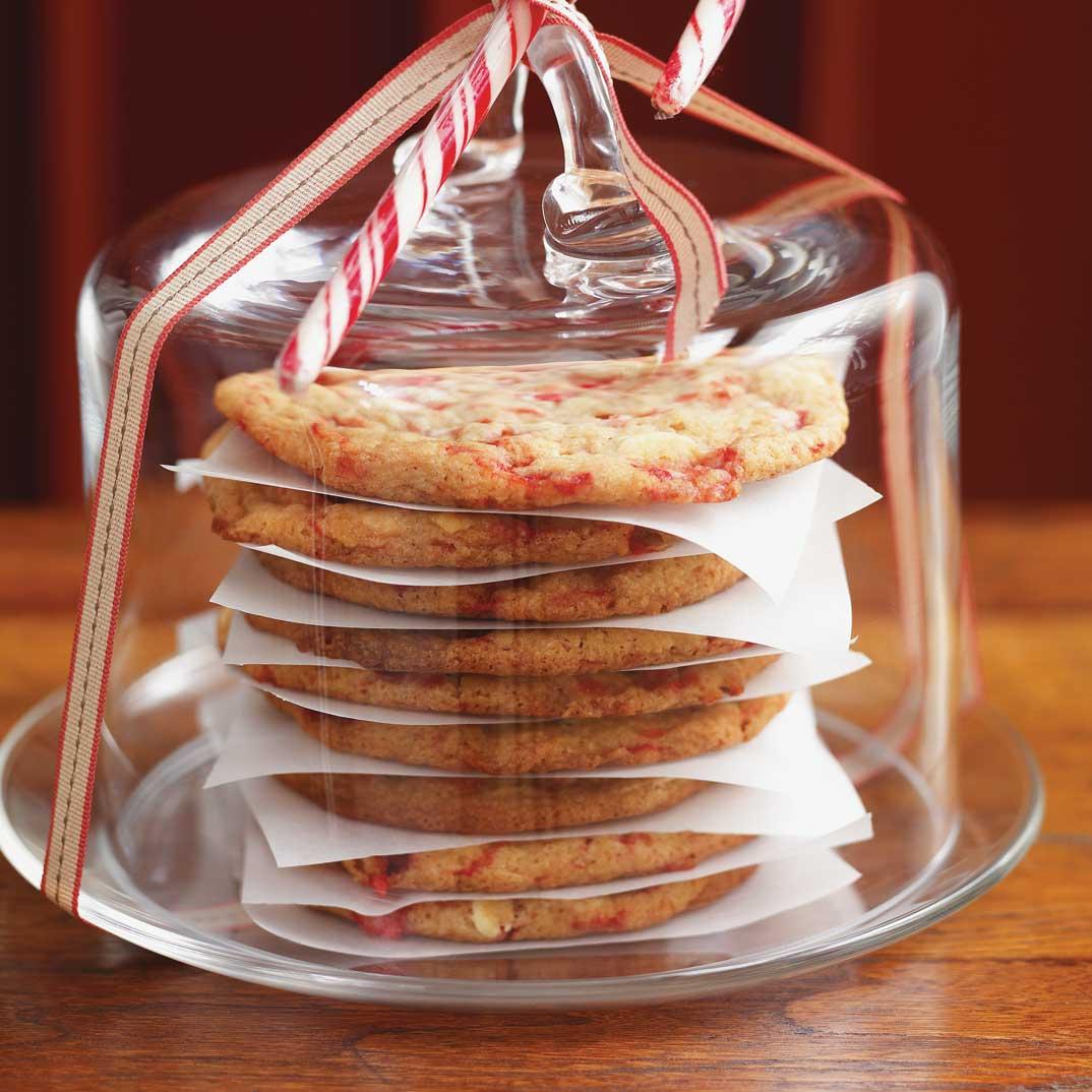 Biscuits aux cannes de bonbon