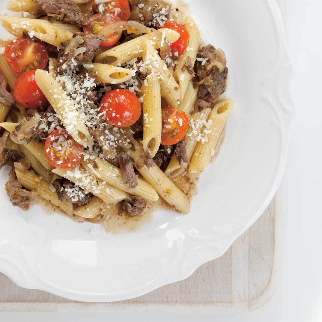 Provençale Braised Beef and Onion Pasta