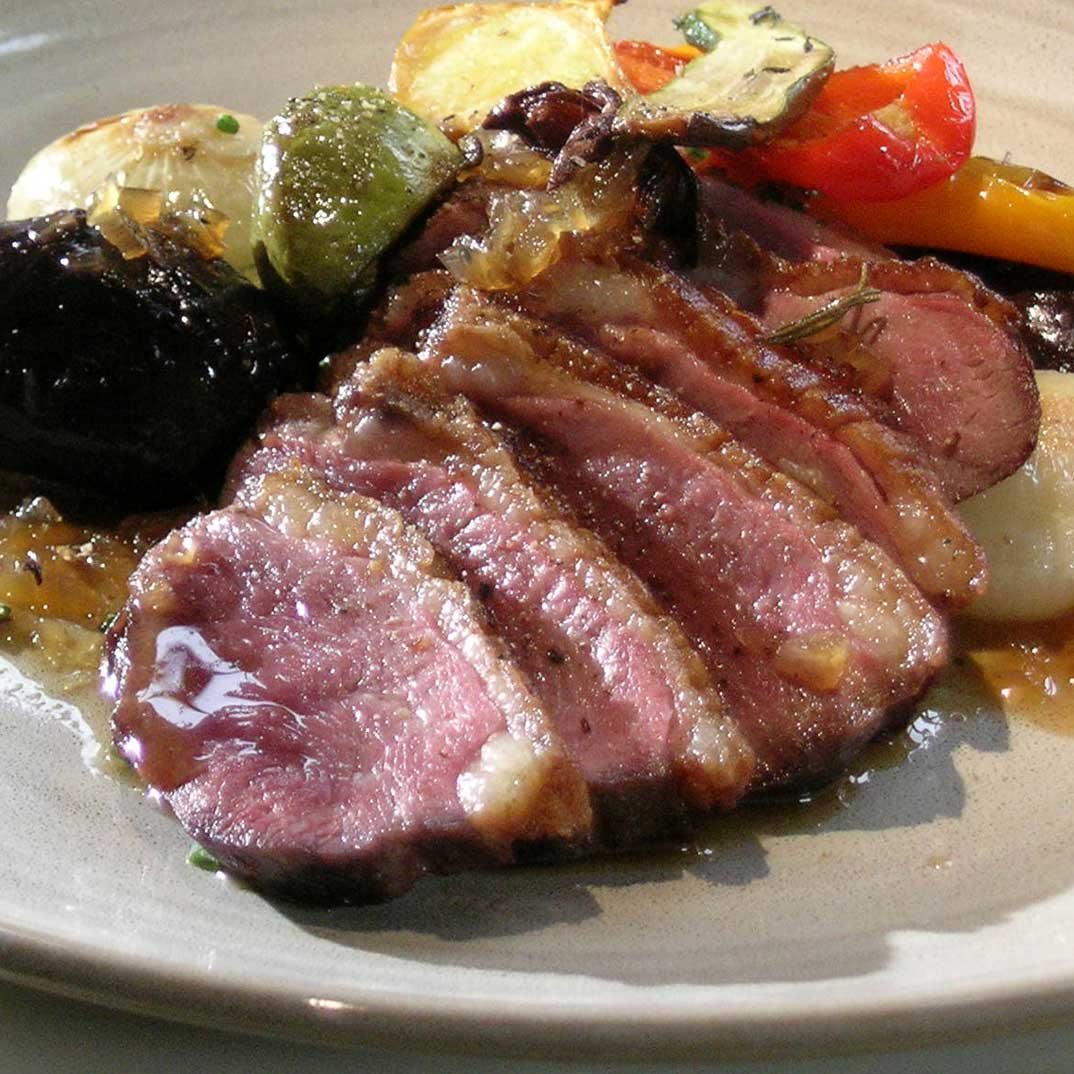 Roasted Duck Breast with Spiced Whisky Sauce and Pont-Neuf Potatoes