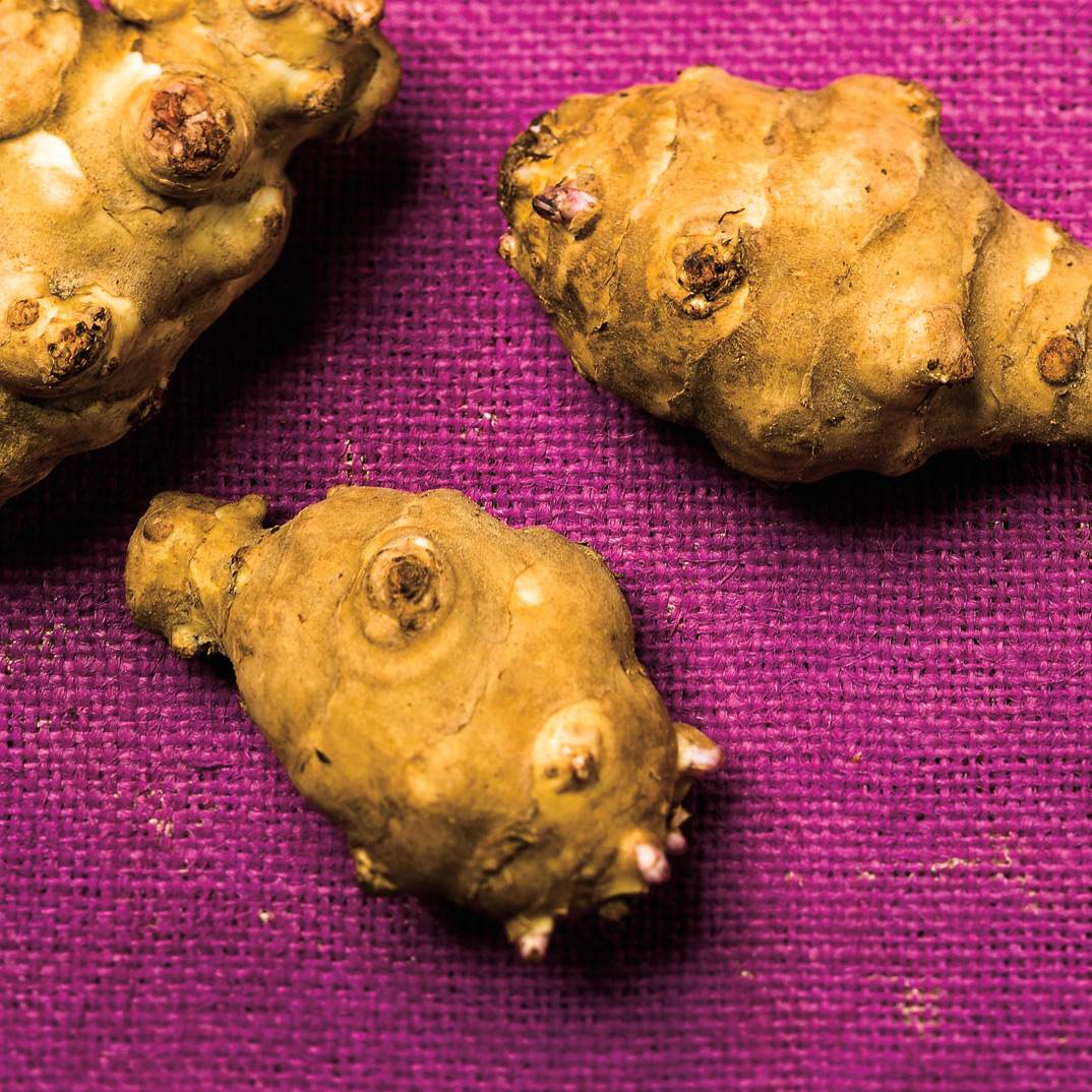 Scalloped Jerusalem Artichokes