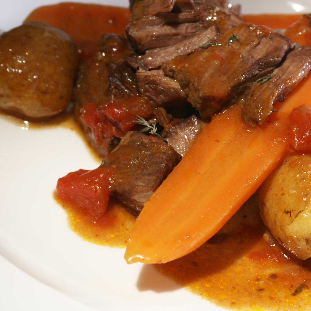 Slow-Cooked Beef with Red Wine