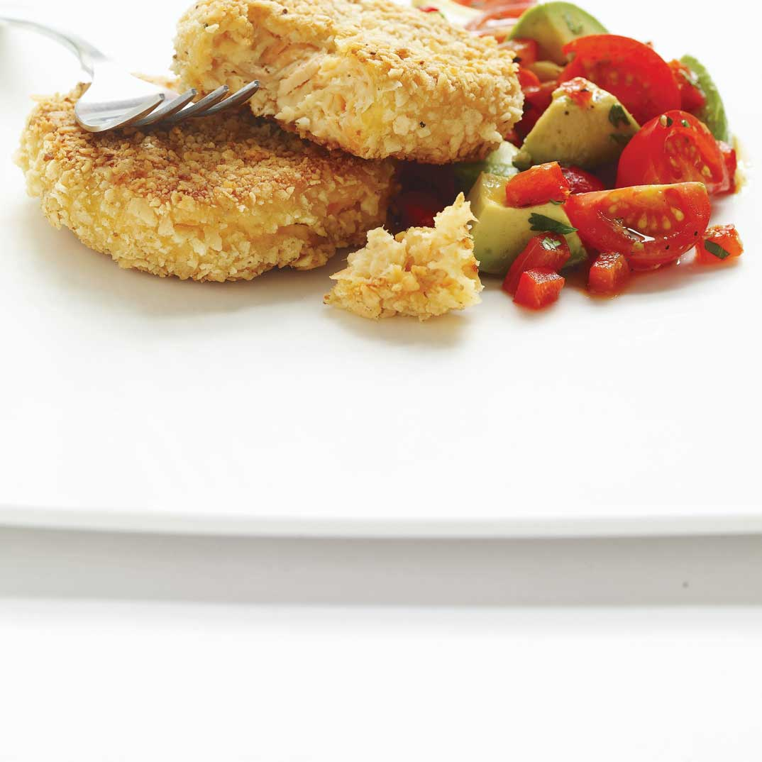 Salmon Croquettes with Salsa