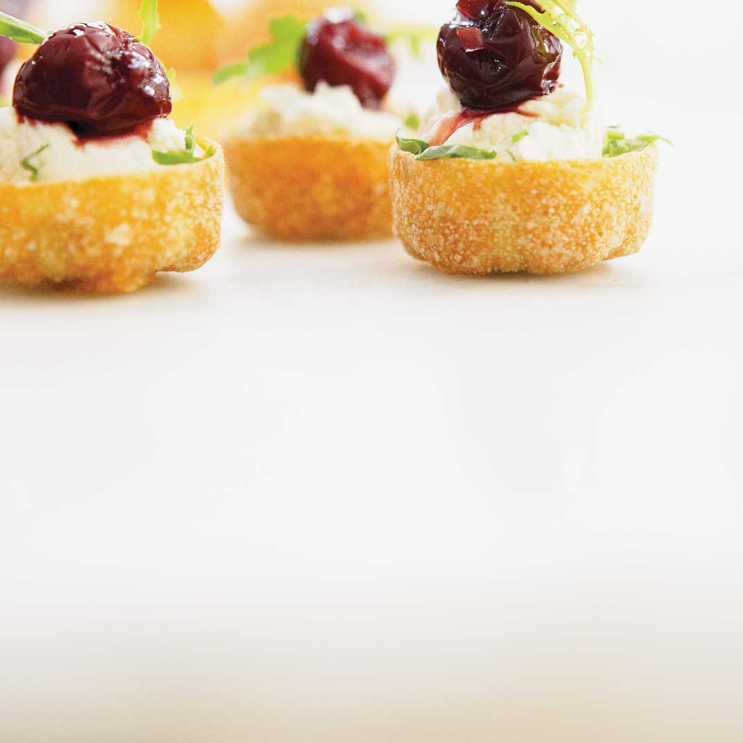 Goat Cheese and Sour Cherry Bites