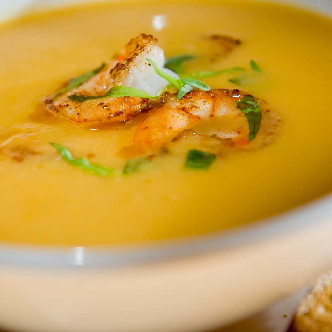 Squash and Shrimp Bisque