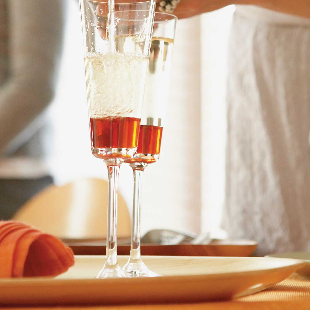 Kir à l'orange sanguine