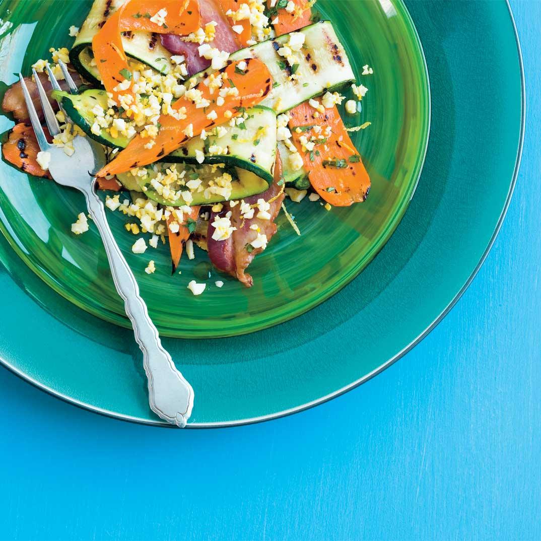 Grilled Vegetable and Egg Salad