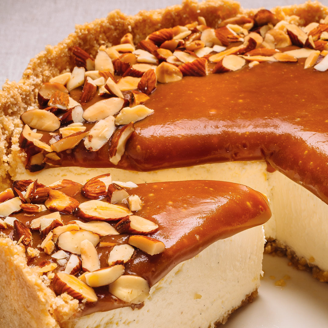 Caramel and Almond Cheesecake | Ricardo