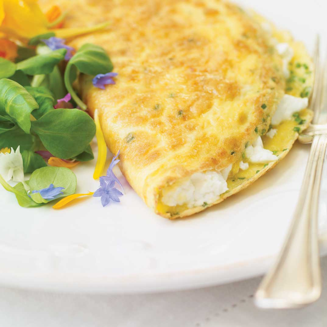 Fresh Goat Cheese Omelet