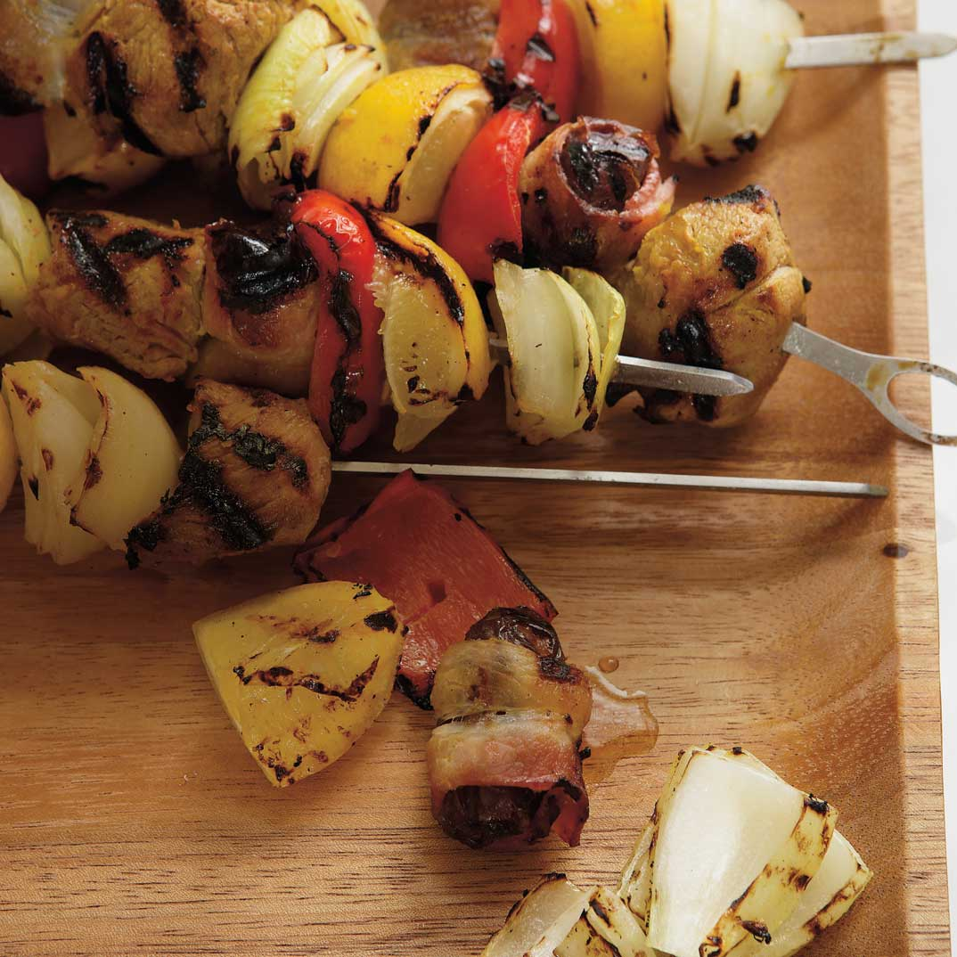 Lamb Skewers with Bacon and Dates