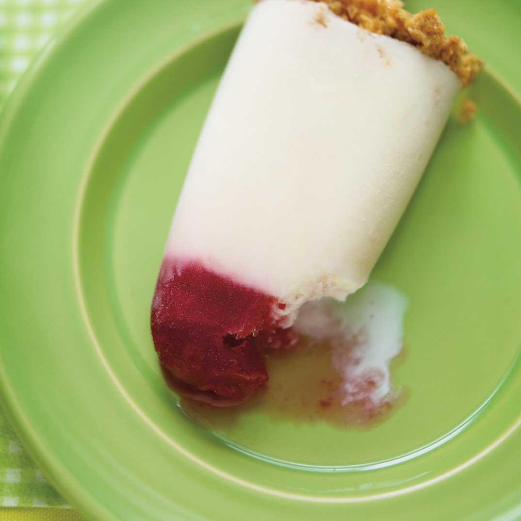 Sucettes glacées «gâteaux au fromage»