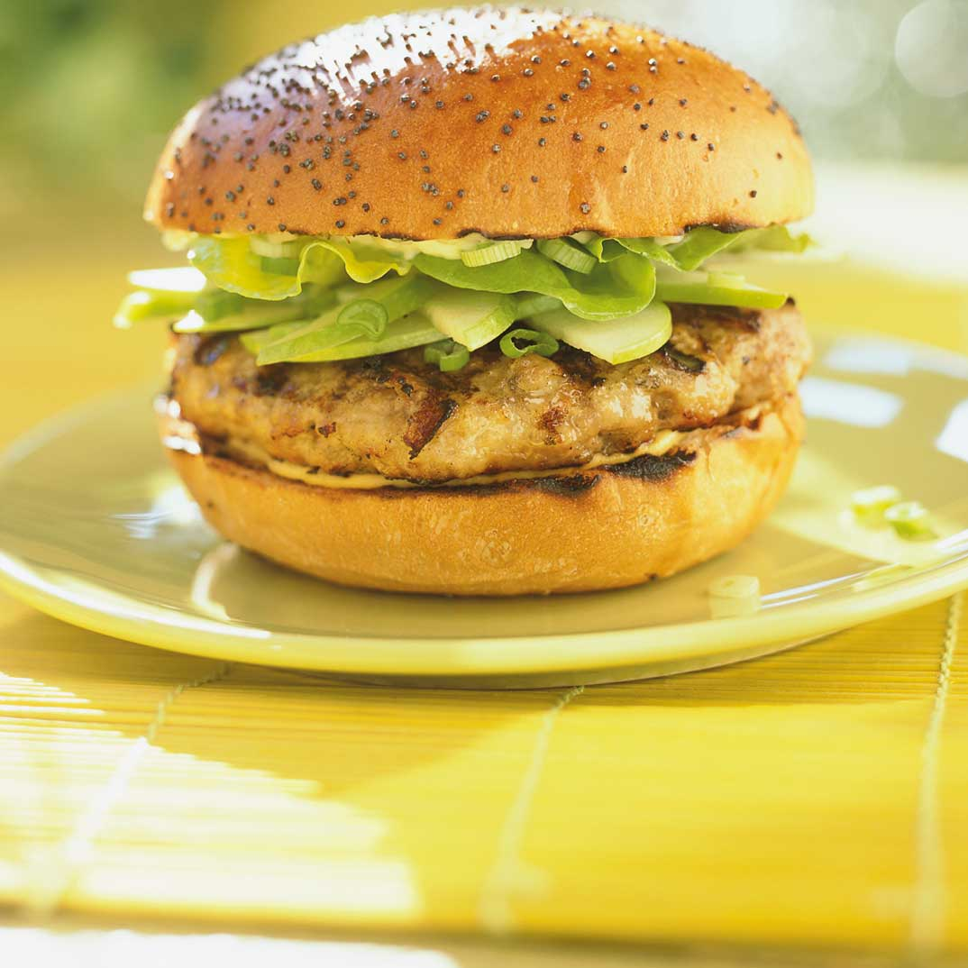 Apple and Cheddar Burgers