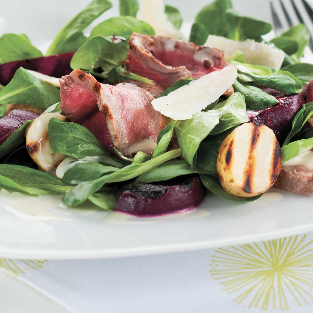 Salade de boeuf, de betteraves et de pommes de terre