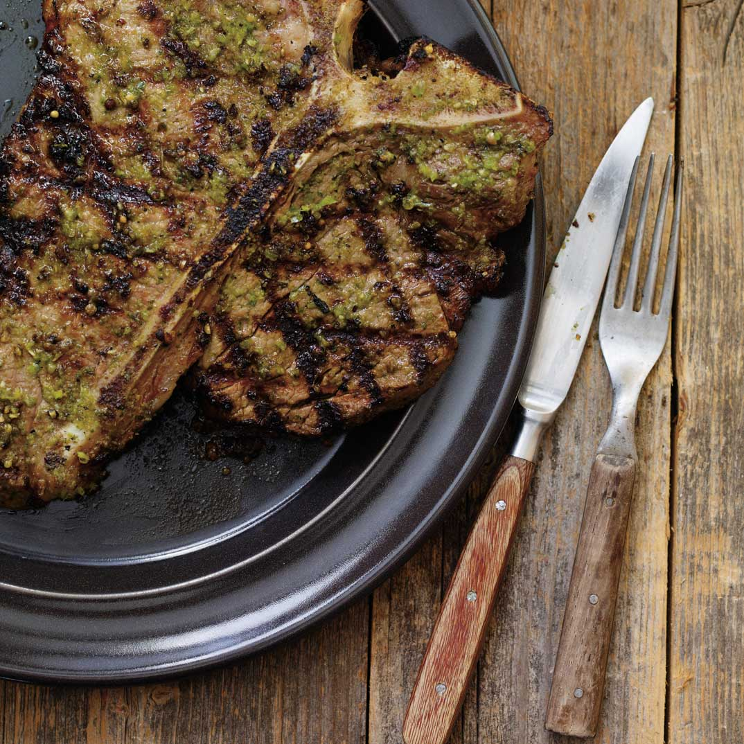 Marinated T-Bone Steaks