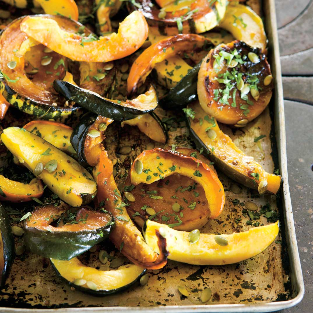 Honey Roasted Squash with Cilantro