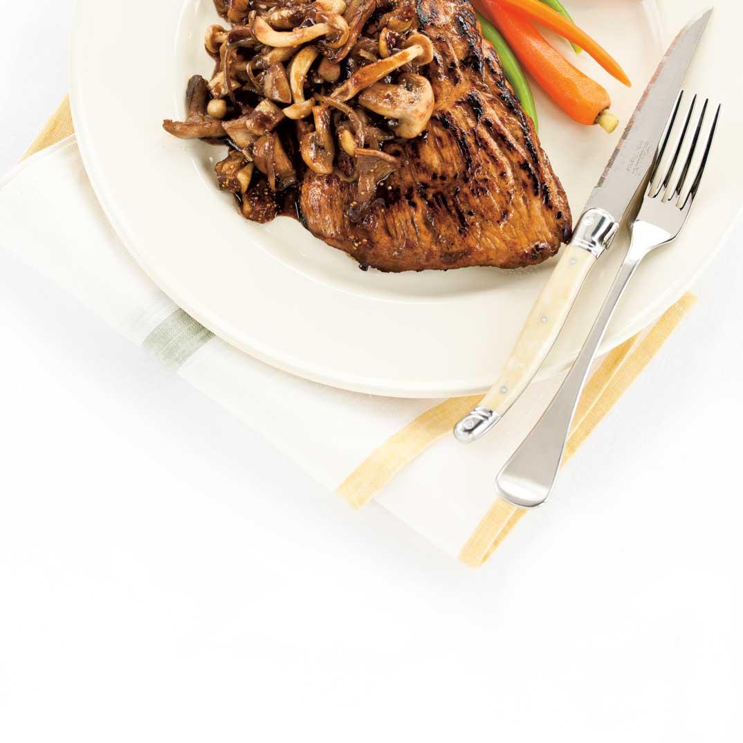 Bavette de porc aux champignons et aux figues