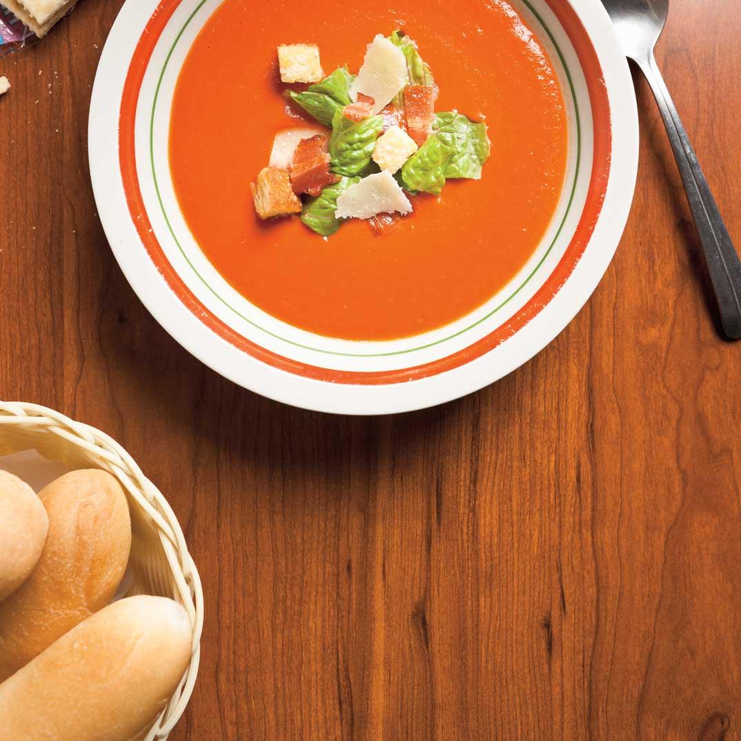 Crème de tomates BLT