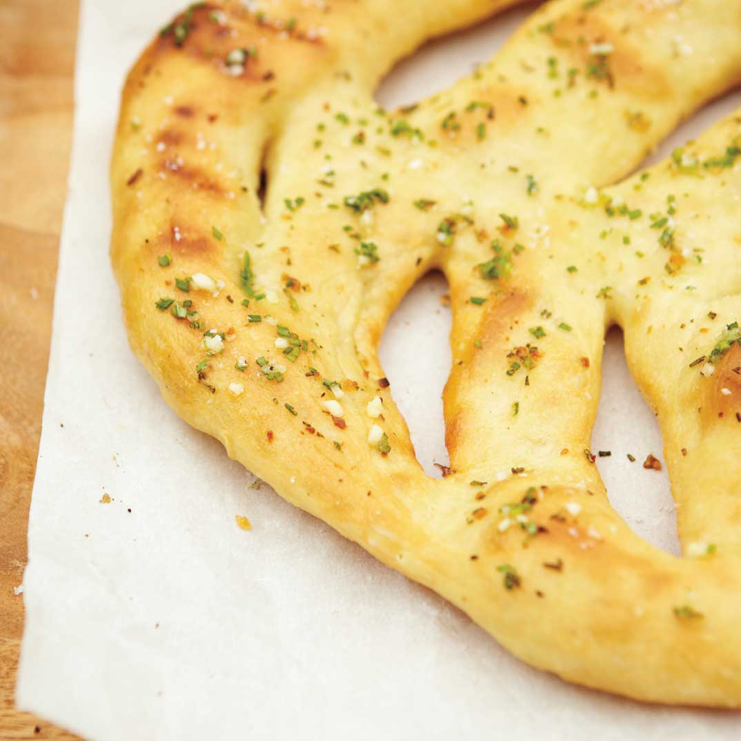 Garlic and Rosemary Fougasse