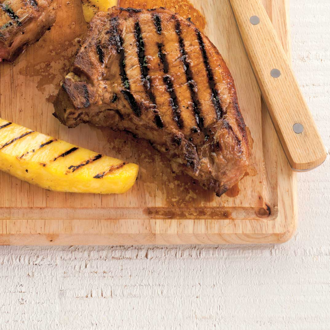 BBQ Pork Chops with Pineapple
