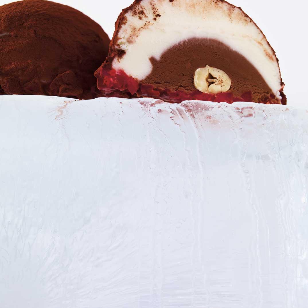 Truffes de crème glacée (de type tartufo)