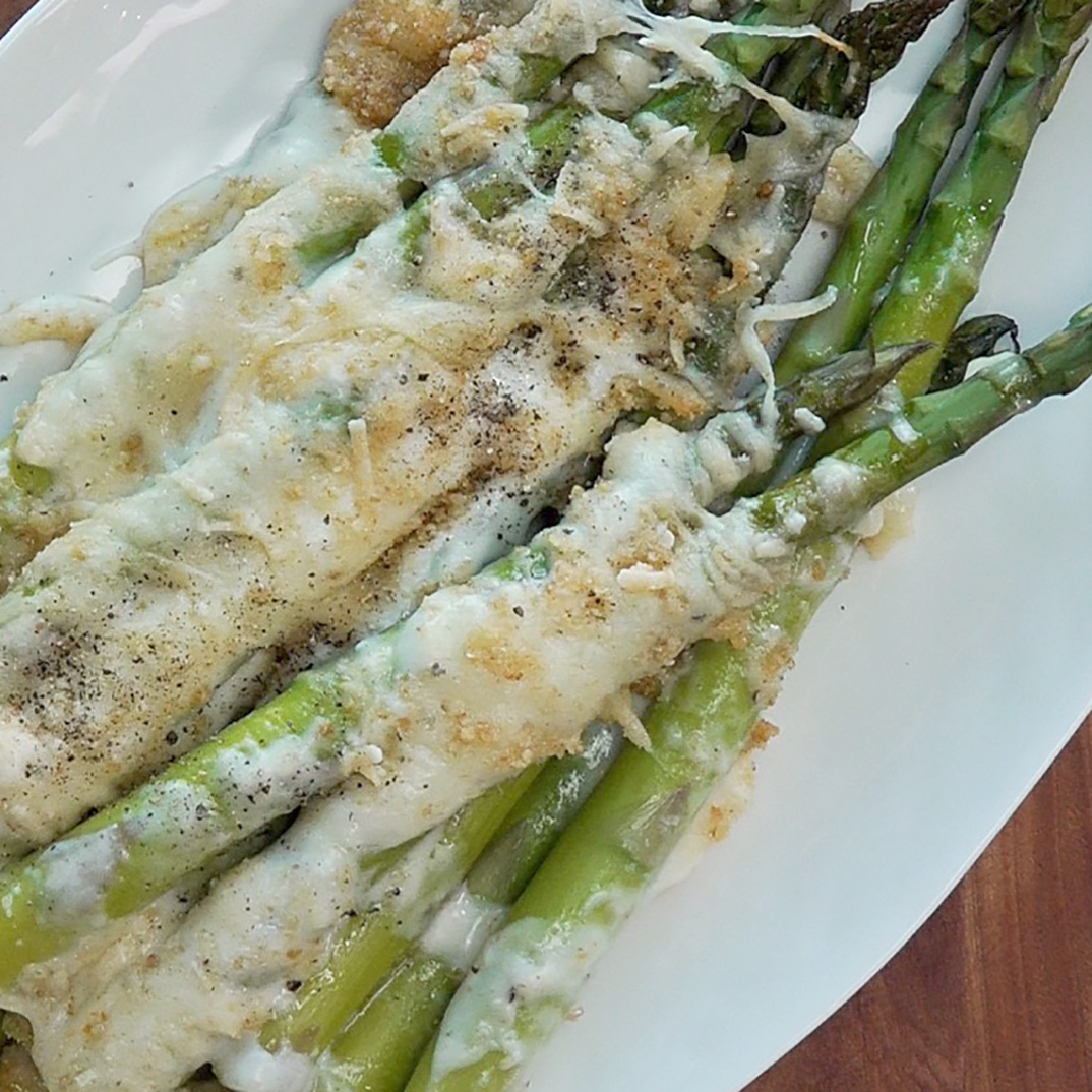 Asparagus au Gratin