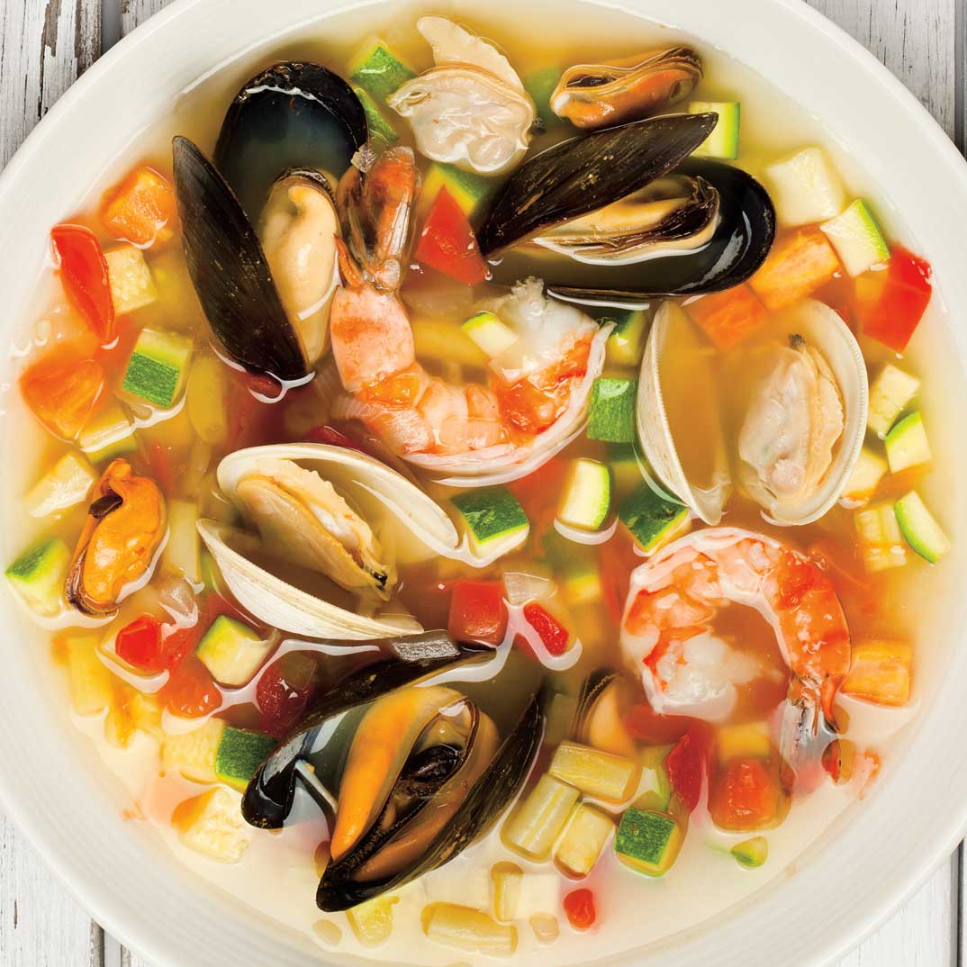 Summer Seafood Minestrone