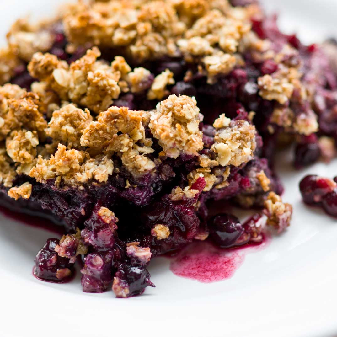 Apple and Blueberry Crisp, the healthier version