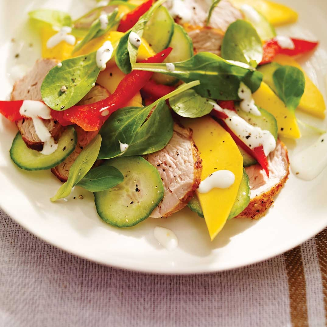 Mango, Bell Pepper and Pork Salad