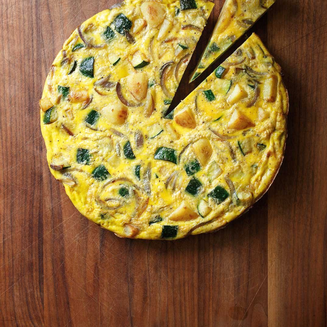 Zucchini and Potato Omelette