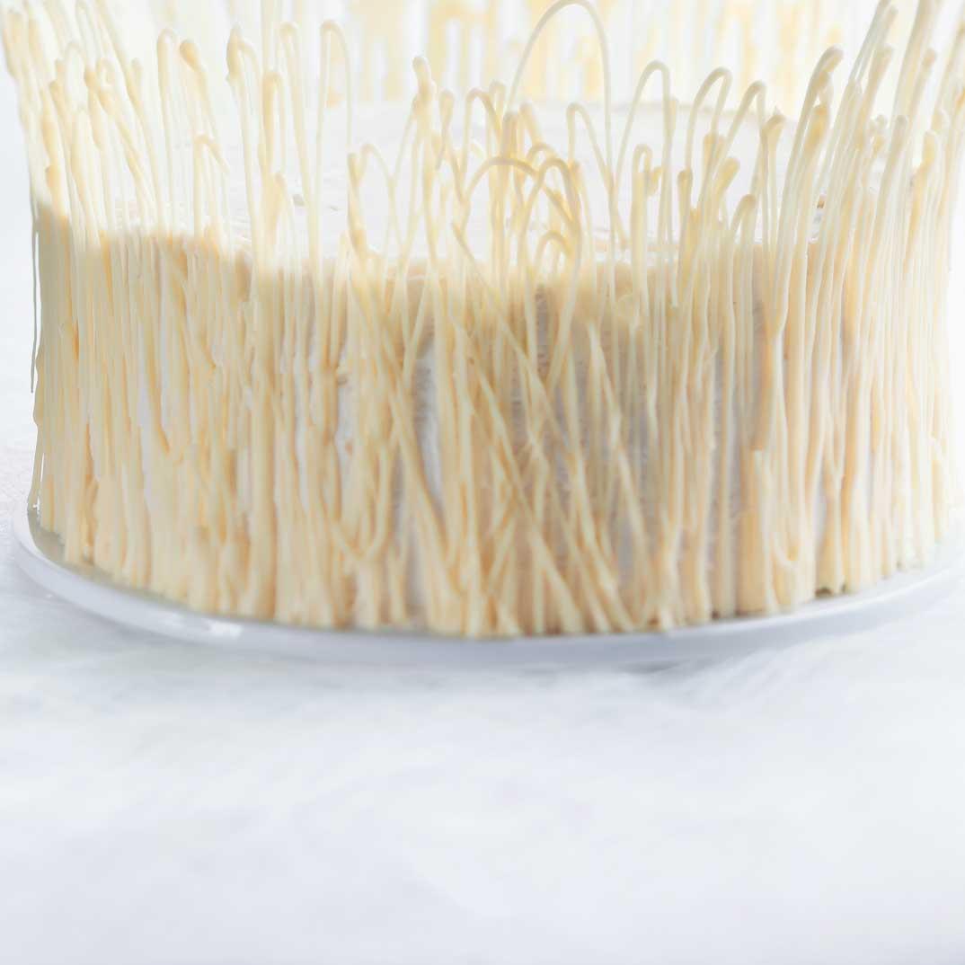 White Chocolate and Raspberry Ice Storm Cake
