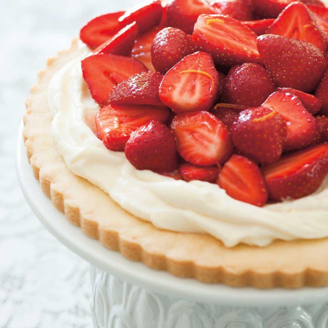 Tarte biscuit aux fraises et au mascarpone